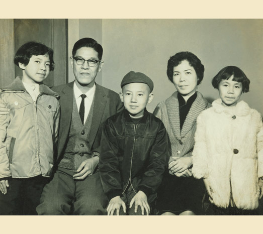 1964: A family portrait while serving at the Joint Commission on Rural Reconstruction (JCRR).