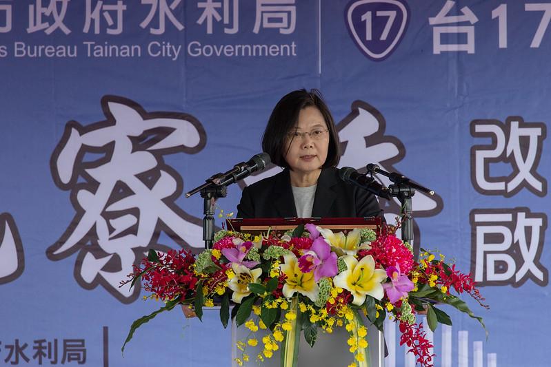 總統出席「『海尾寮橋』改建工程啟用典禮」,並致詞