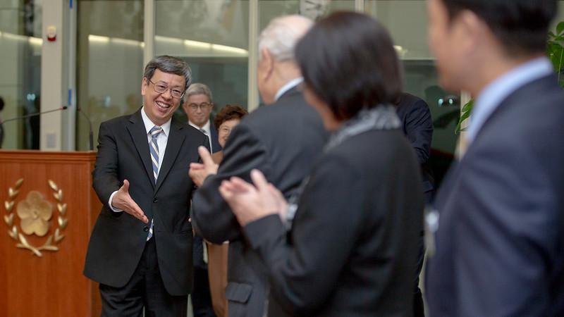 副總統發表「帛誼專案」返國談話
