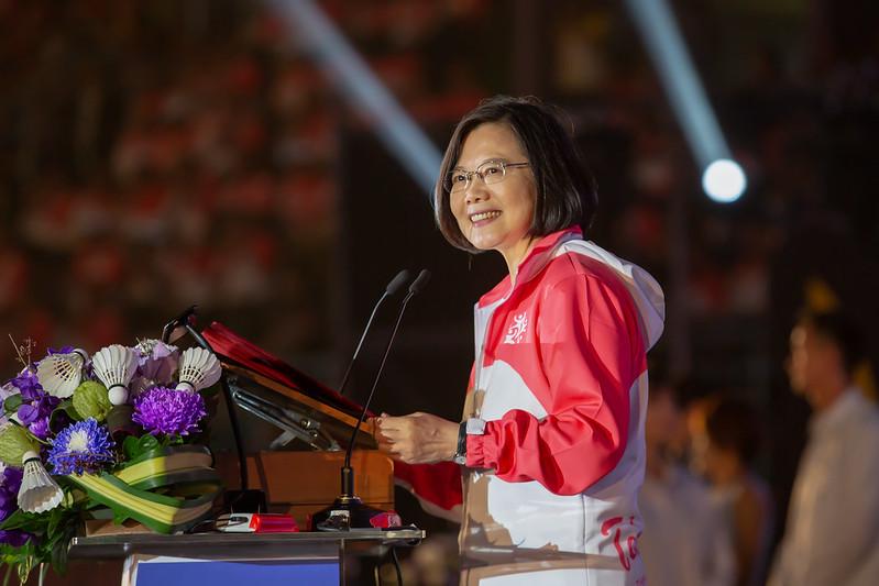 總統出席「108年全國運動會開幕典禮」,並致詞