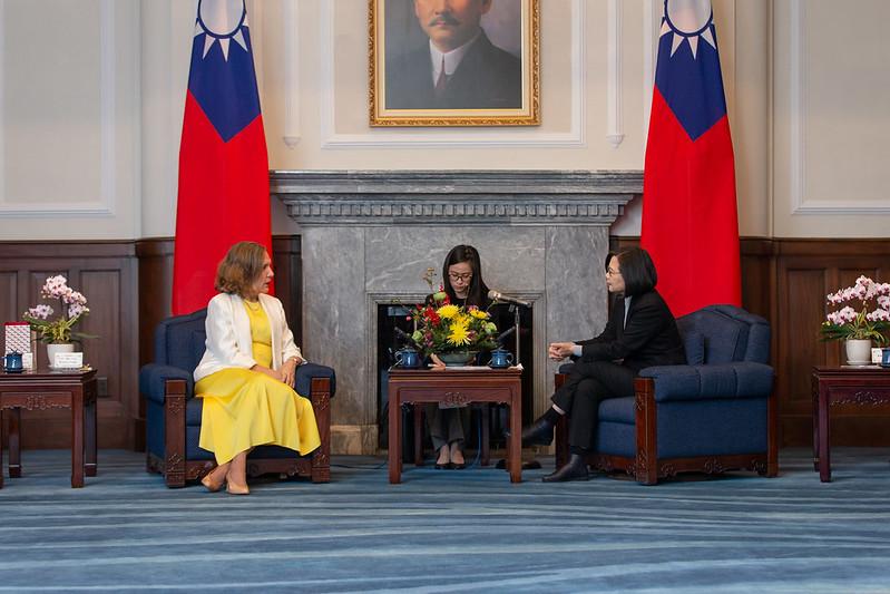 總統接見「友邦駐紐約聯合國常任代表訪團」,並相互交流