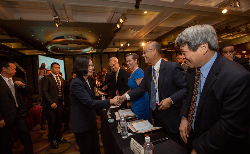 蔡英文總統今(8)日上午出席「玉山論壇開幕典禮」
