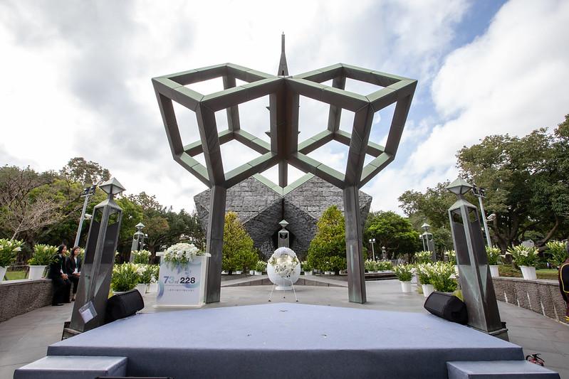 今(28)日是二二八事件73週年,蔡英文總統今上午出席「二二八事件73週年中樞紀念儀式」