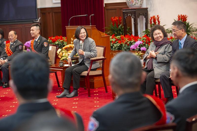 總統接見108年「鳳凰獎」楷模得獎人