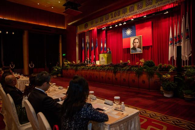 總統出席「108年僑務委員會議」開幕典禮,並致詞