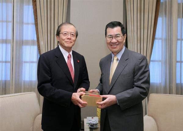 副總統接見日本前眾議員愛知和男...