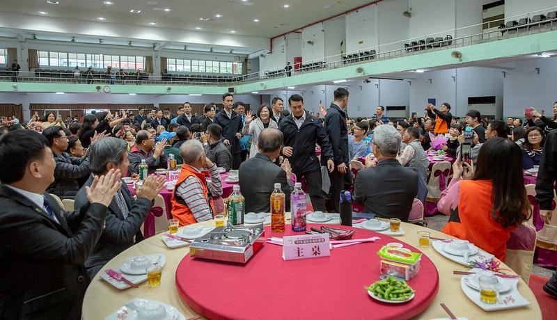 蔡英文總統今(7)日午間出席「屏東高工校友返校日活動」