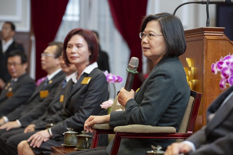 蔡英文總統今(5)日上午接見「國際同濟會台灣總會第46屆理監事首席」