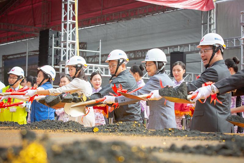 蔡英文總統今(18)日上午出席「臺中國際機場國內航廈整體改善工程」開工動土典禮