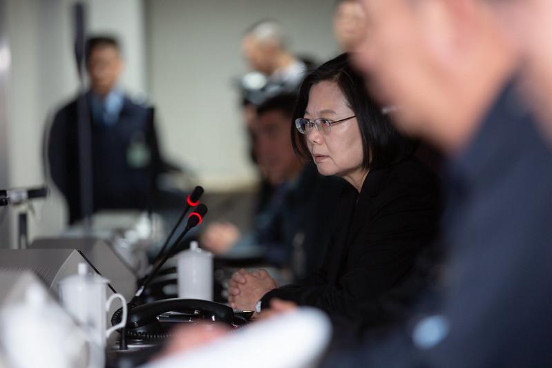蔡英文總統今(3)日下午前往國防部及衡山指揮所視導