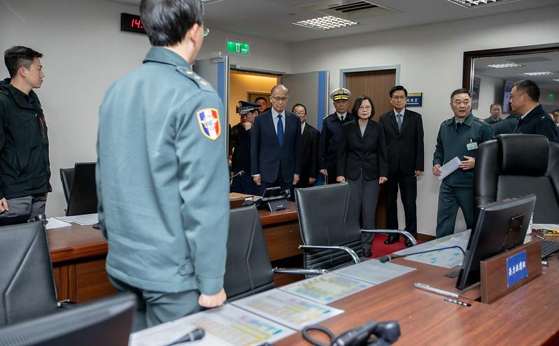 總統視導國防部及衡山指揮所