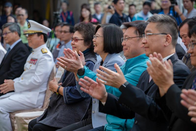 蔡英文總統今(28)日前往高雄出席「壽山國家自然公園管理處揭牌典禮」