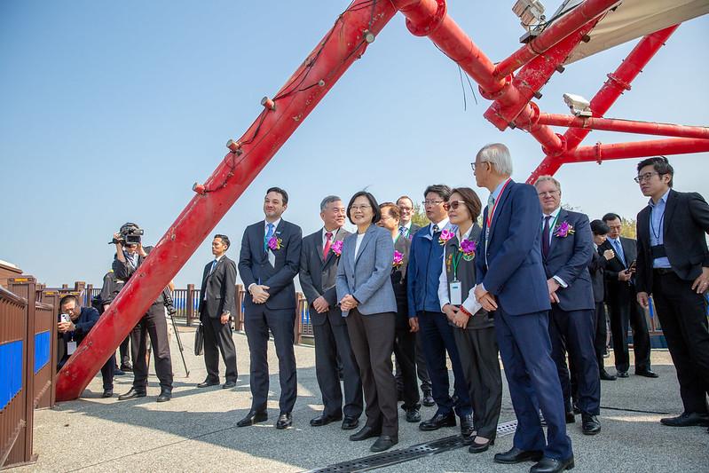 總統出席「海洋離岸風場」啟動典禮