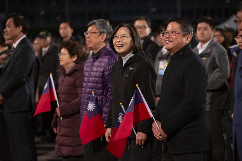 總統、副總統伉儷出席「中華民國109年元旦總統府升旗典禮」