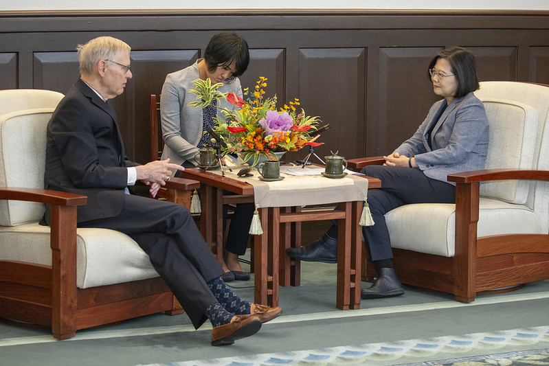 總統與「布魯金斯研究院臺灣講座卜睿哲博士」會談