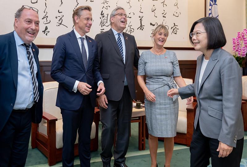 總統接見「2019年荷蘭國會暨智庫訪團」