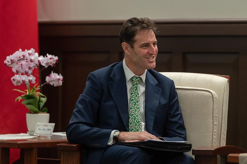 總統接見「澳洲駐臺代表高戈銳」
