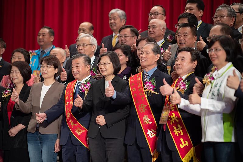 總統出席「世界彰化同鄉總會第九屆總會長暨理監事」就職典禮,並合影
