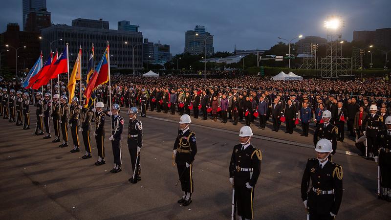 總統、副總統出席「中華民國109年元旦總統府升旗典禮」