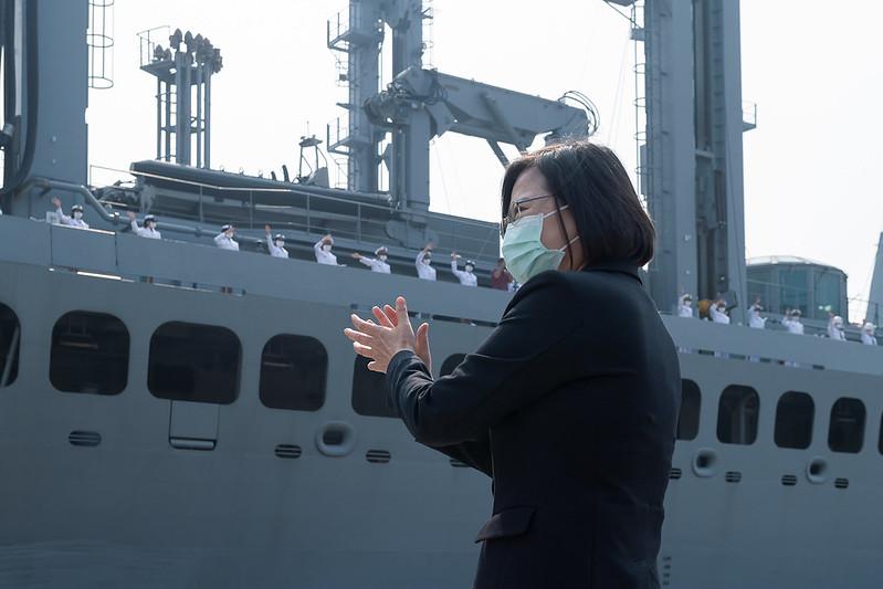 總統主持「海軍敦睦遠航訓練支隊返國歡迎儀式」