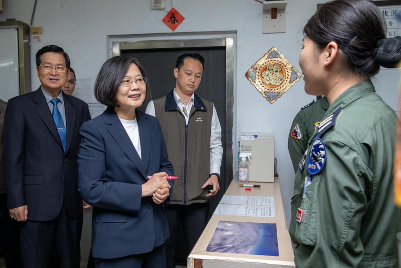 總統視導「空軍第一戰術戰鬥機聯隊」