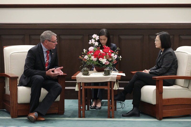 總統接見德國在台協會處長王子陶,並相互交流