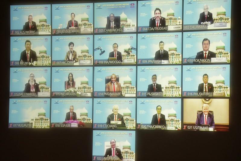 亞太經濟合作(APEC)經濟領袖會議(AELM)已於臺北時間今(20)日晚間8時至10時50分以視訊方式順利舉行