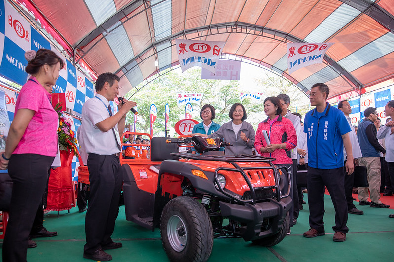 總統參訪「2019雲林國際農業機械暨資材展」
