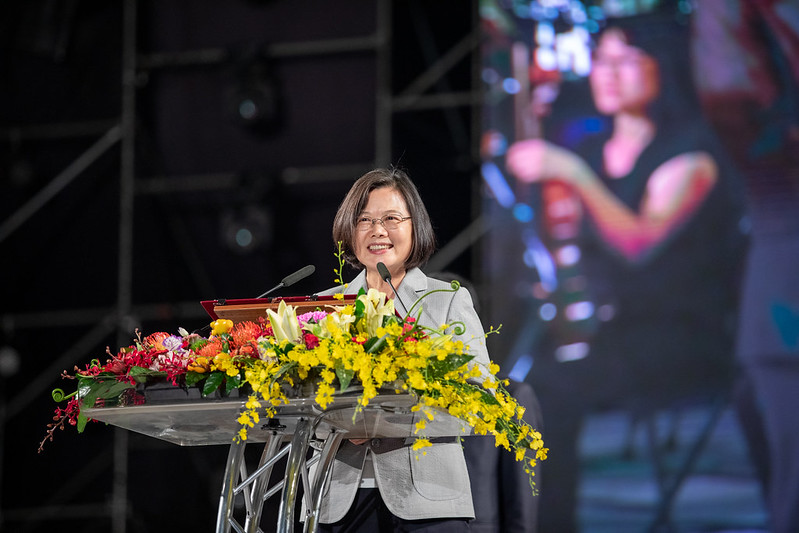 總統出席「108年國慶焰火晚會在屏東」,並致詞