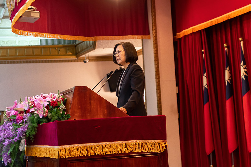 總統出席「109年上半年陸海空軍將官晉任布達暨授階典禮」,並致詞