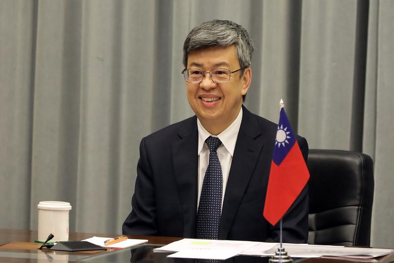 陳建仁副總統今(8)日上午以視訊方式接受「英國廣播公司」(BBC)「Newsday」節目專訪