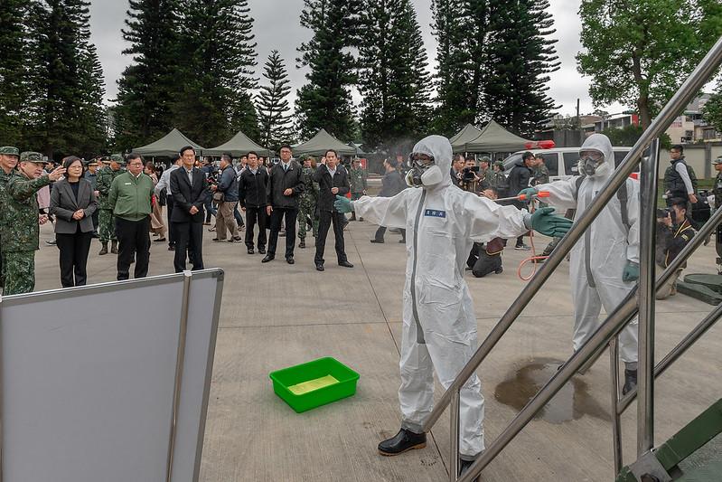 總統視導「陸軍第33化學兵群防疫整備」