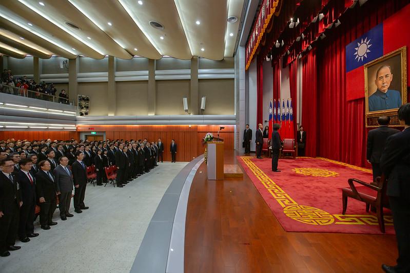 總統出席「法務部調查局第56期調查班結業典禮」