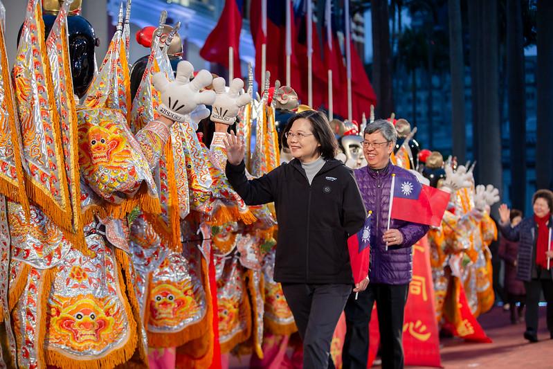 蔡英文總統、陳建仁副總統出席「中華民國109年元旦總統府升旗典禮」