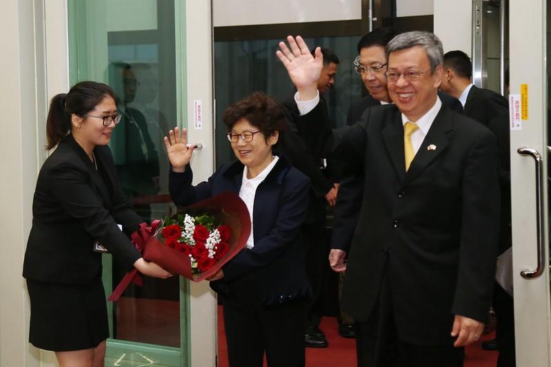 陳建仁副總統今(15)日清晨結束「聖德專案」返抵國門