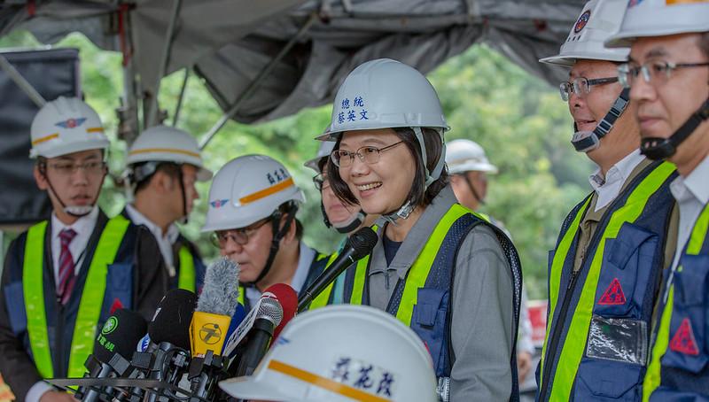 總統視察「蘇花公路改善工程進度」及接受媒體相關時事提問