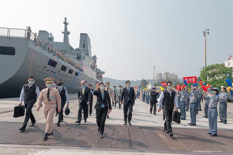 總統今(9)日上午主持「海軍敦睦遠航訓練支隊返國歡迎儀式」