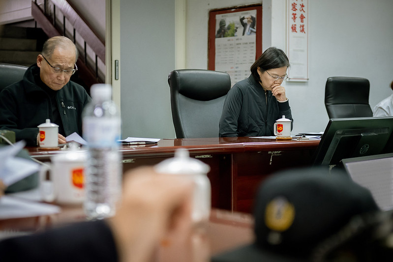 總統關心黑鷹直升機事故搜救進度並聽取相關簡報