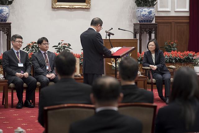 總統接見「2017第十三屆國際傑出發明家獎」國內得獎人,徐子圭教授致詞