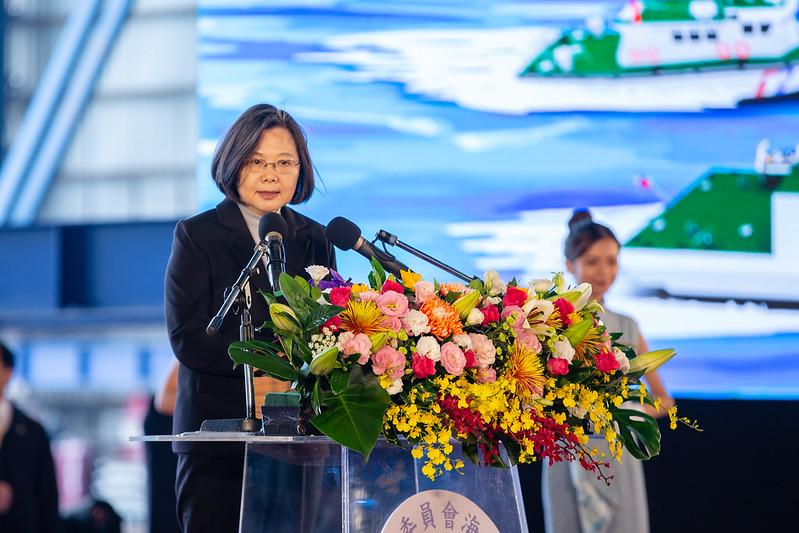 總統出席海洋委員會艦艇交船典禮,並致詞