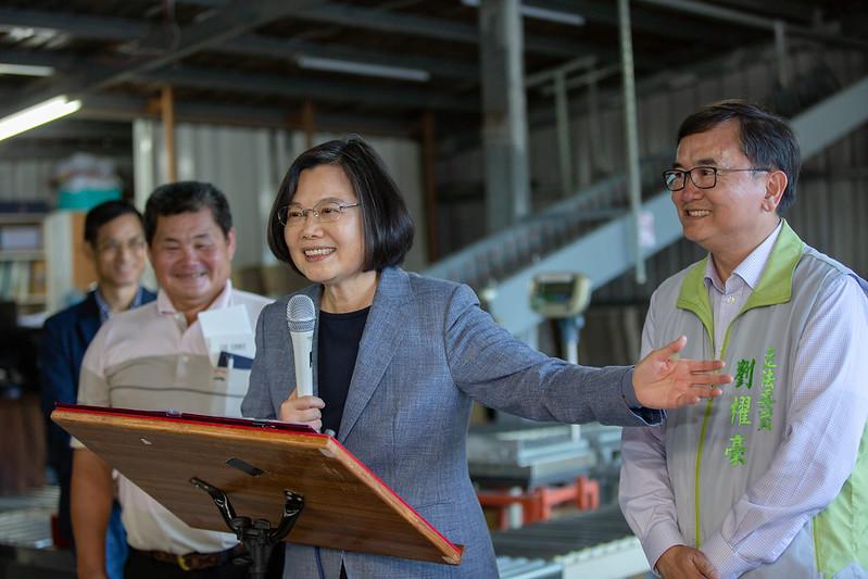 總統參訪「頂岩灣集貨場」,並致詞