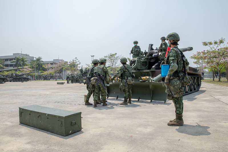總統視導「陸軍砲兵第43指揮部砲1營」,並致詞
